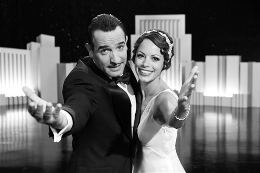 "Jean Dujardin and Berenice Bejo of ""The Artist."" (AP Photo/The Weinstein Company, Archive)"