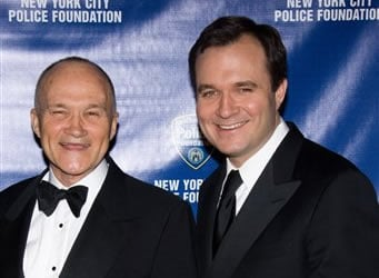 FILE - New York Police Commissioner Raymond Kelly and son Greg attend the New York City Police Foundations 31st Annual Gala in New York, in this March 3, 2009 file photo.