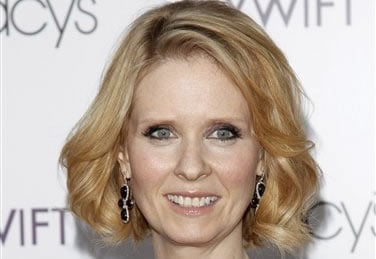 FILE - This is a Tuesday, May 25, 2010 file photo of actress Cynthia Nixon attending the Designing Women Awards in New York. (AP Photo/Peter Kramer, file)
