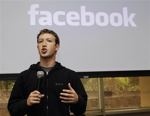 FILE - In this May, 26, 2010 file photo, Facebook CEO Mark Zuckerberg talks about the social network site's new privacy settings in Palo Alto, Calif. (AP Photo/Marcio Jose Sanchez, File)