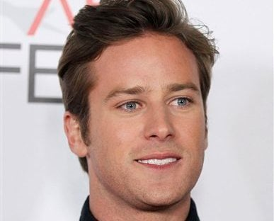 In this Nov. 4, 2011 file photo, actor Armie Hammer poses for photographers after the Young Hollywood Panel during AFI FEST 2011 in Los Angeles. (AP)