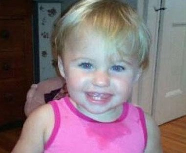 This undated file photo obtained from a Facebook page shows missing toddler Alya Reynolds. Investigators say they've found blood inside the Maine home where a toddler was reported missing six weeks ago. (AP)