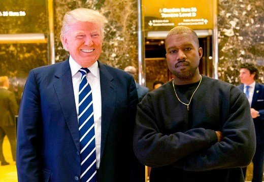 In this Dec. 13, 2016, file photo, then-President-elect Donald Trump and Kanye West pose for a picture in the lobby of Trump Tower in New York.(AP Photo/Seth Wenig, File)
