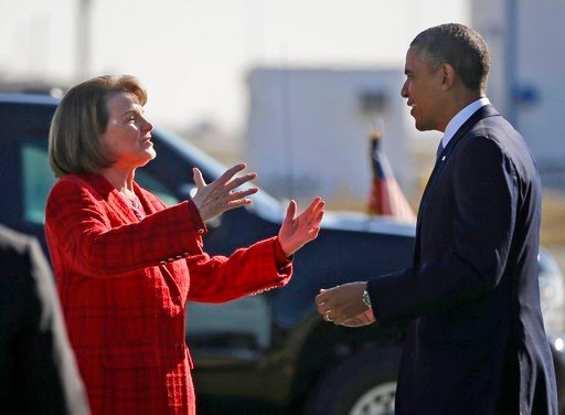 "The California senator released a statement from Obama Friday, May 4, 2018, calling Feinstein one of the ""most effective champions for progress."" She's facing a challenge from state Sen. Kevin de Leon. (AP Photo/Pablo Martinez Monsivais, File)"