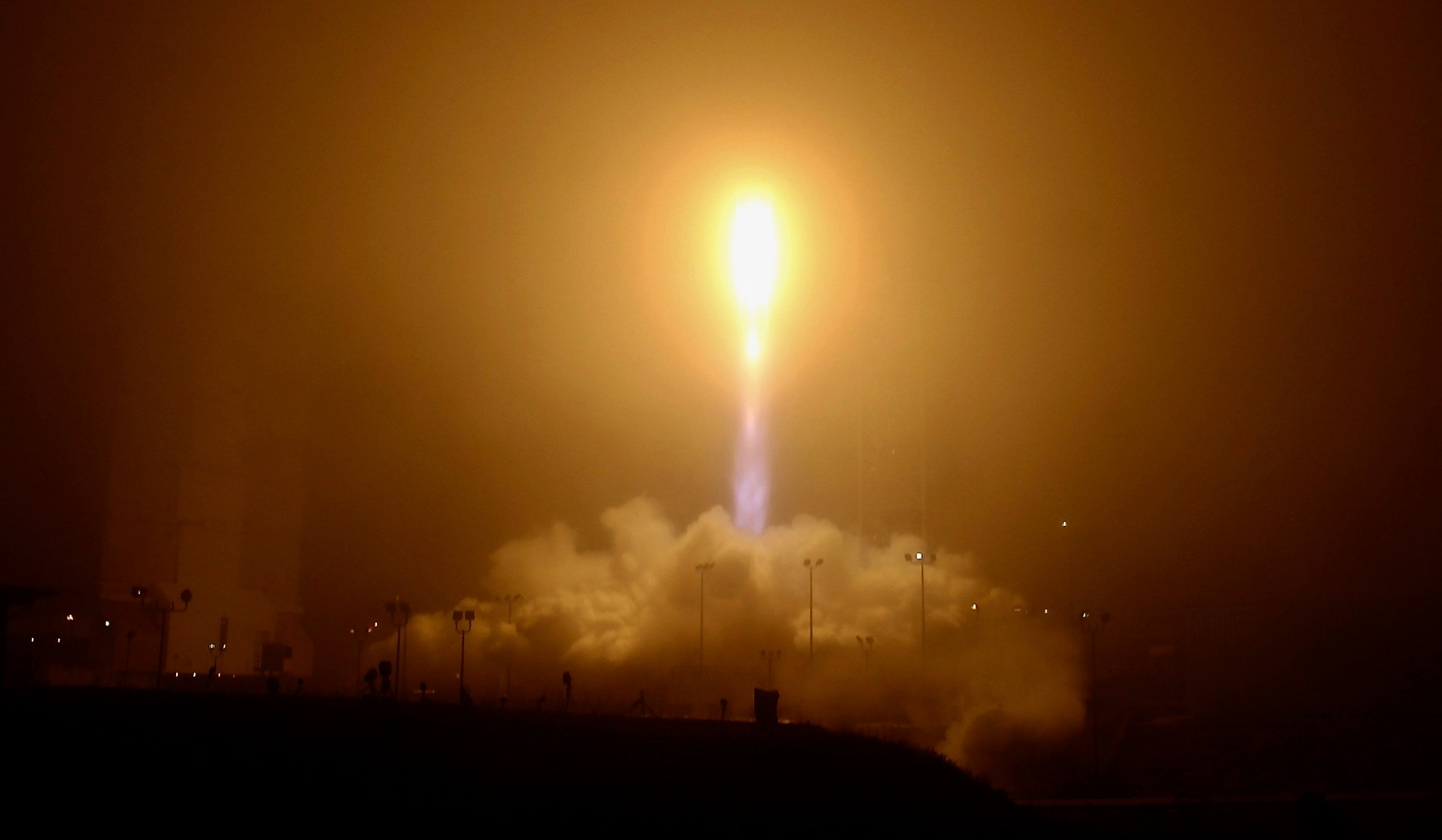 United Launch Alliance Atlas 5 rocket successfully blasts off carrying NASA's InSight Mars Lander from Vandenberg Air Force Base, Calif. This is the first Mission to Mars from California Saturday, May 5, 2018. (AP Photo/Matt Hartman)