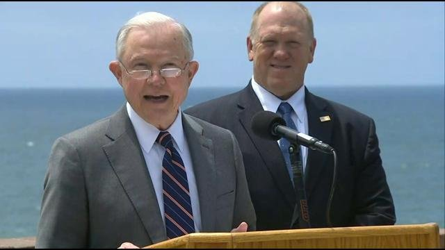 Attorney General Jeff Sessions makes visit to San Diego border