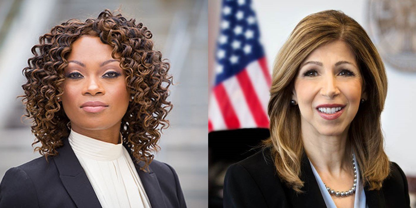 District attorney candidates Geneviéve Jones-Wright, left, and Summer Stephan. (Courtesy Geneviéve Jones-Wright and Summer Stephan campaigns)