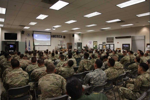National Guard personnel receive their Border Patrol briefing on May 9, 2018. Courtesy: U.S. Border Patrol