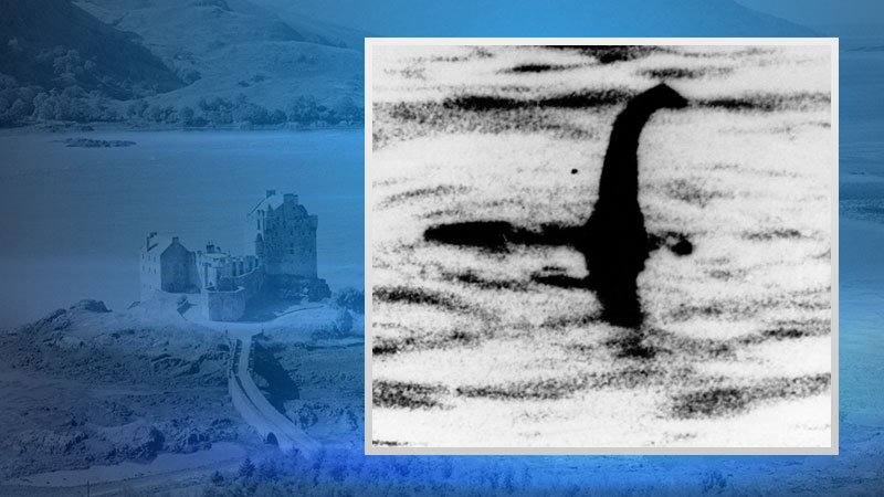 This is an undated file photo of a shadowy shape that some people say is a photo of the Loch Ness monster in Scotland.
