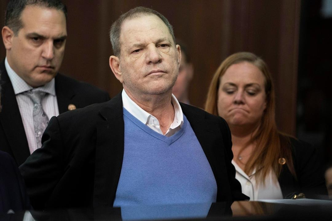 May 25, 2018 file photo, Harvey Weinstein listens during a court proceeding in New York. (Steven Hirsch/New York Post via AP, Pool)