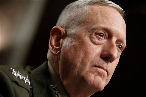 In a July 10, 2010 photo Marine Corps Gen. James Mattis testifies on Capitol Hill in Washington before the Senate Armed Services Committee. (AP)
