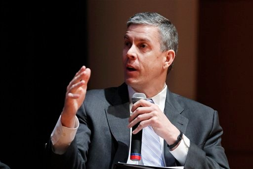 In this March 2, 2012 file photo, Education Secretary Arne Duncan speaks during a forum on education at American University in Washington. (AP Photo/Jacquelyn Martin, File)