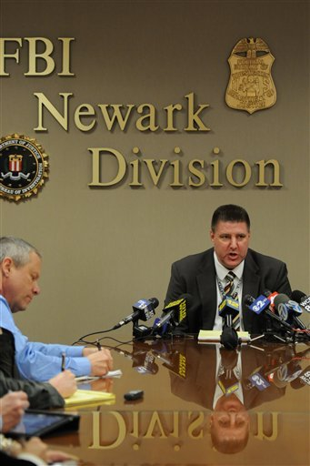 Michael B. Ward special agent in chargeof the FBI's Newark Division meets with the media in Newark, N.J. on Wednesday, March 7, 2012.