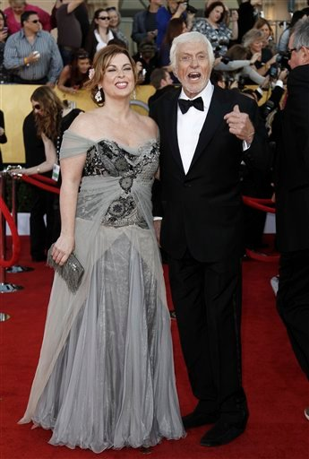 Jan. 29, 2012 file photo: Actor Dick Van Dyke and Arlene Silver arrive at the 18th Annual Screen Actors Guild Awards in LA. Van Dyke and Silver were married on Leap Day at a chapel in Malibu, according to his publicist, Bob Palmer. (AP Photo/Matt Sayles)