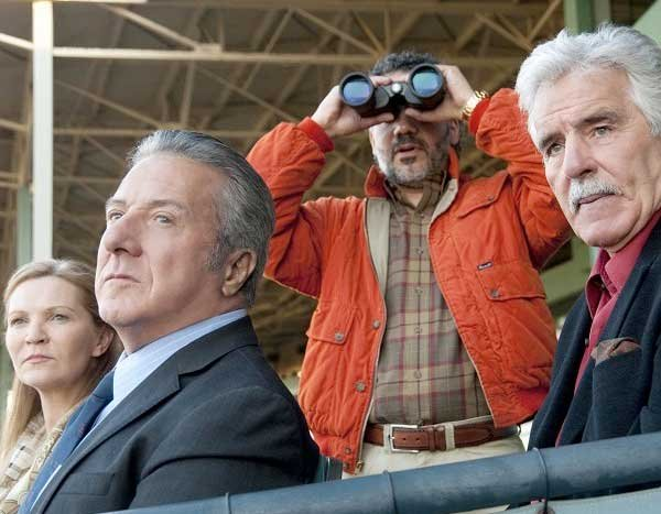 Joan Allen, Dustin Hoffman, John Ortiz and Dennis Farina are shown in a scene from the HBO original series Luck.