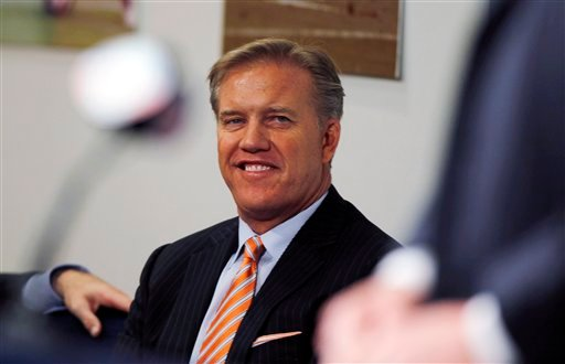 Denver Broncos vice president of football operations John Elway.