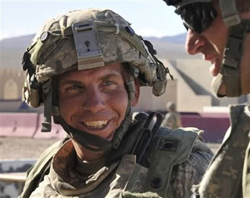 In this Aug. 23, 2011, file photo provided by the Defense Video & Imagery Distribution System, Sgt. Robert Bales takes part in exercises at the National Training Center at Fort Irwin, Calif.