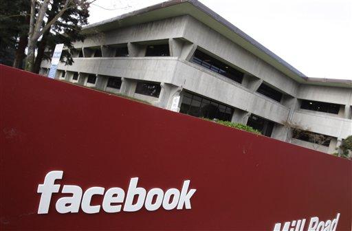 FILE - A Jan. 3, 2011 file photo shows the Facebook headquarters in Palo Alto, Calif. (AP Photo/Paul Sakuma, File)