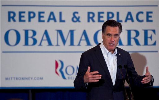 Republican presidential candidate, former Massachusetts Gov. Mitt Romney, campaigns in Metairie, La., Friday, March 23, 2012. (AP Photo/Steven Senne)
