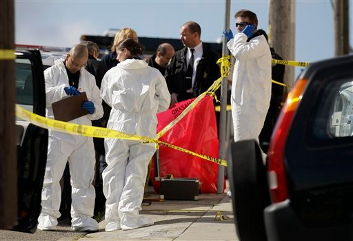 Five members of a family were found dead inside a home near San Francisco's City College in an apparent murder-suicide, police said Friday. (AP Photo/Jeff Chiu)