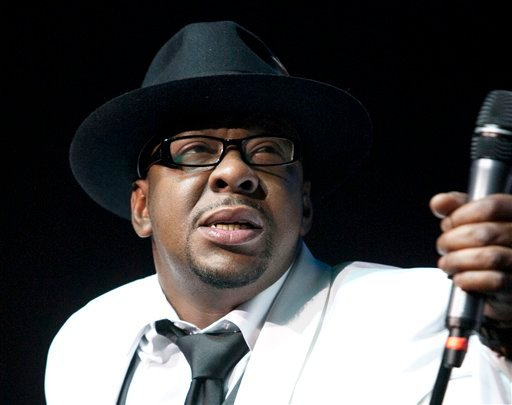 FILE - In this Feb. 18, 2012 file photo, singer Bobby Brown, former husband of the late Whitney Houston performs with New Edition at Mohegan Sun Casino in Uncasville, Conn.
