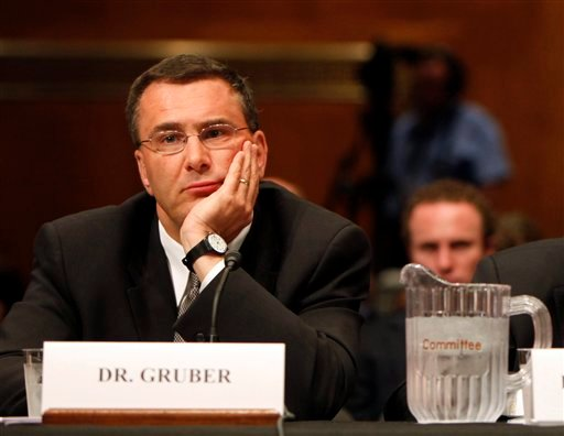 In this May 12, 2009, file photo Jonathan Gruber, professor of Economics at the Massachusetts Institute of Technology, participates in a Capitol Hill hearing on the overhaul of the heath care system in Washington. (AP)