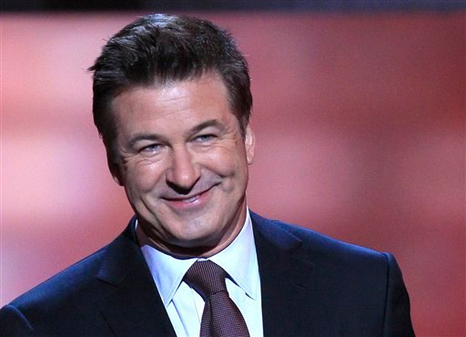 FILE - In this Feb. 4, 2012 file photo, host Alec Baldwin speaks during the inaugural NFL Honors show in Indianapolis.