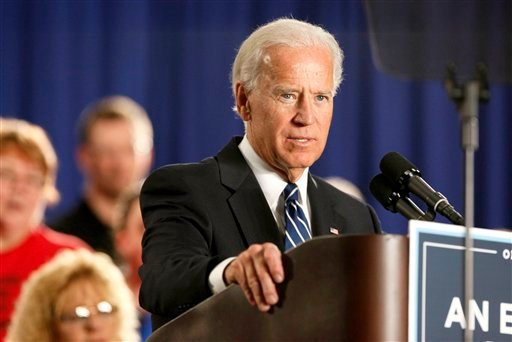 FILE - In this March 15, 2012, file photo, Vice President Joe Biden speaks at a union hall in Toledo, Ohio. (AP Photo/Madalyn Ruggiero, File)