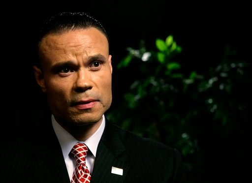 Daniel Bongino, a former Secret Service agent and U.S. Senate candidate in Maryland, speaks during an interview at the Associated Press on Tuesday, April 17, 2012 in New York. (AP Photo/ Peter Morgan)