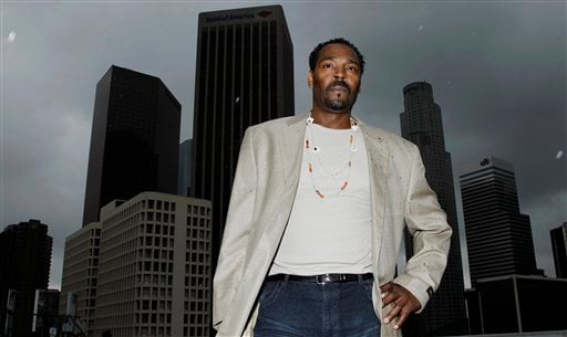 On April 13, 2012, Rodney King poses for a portrait in Los Angeles. (AP Photo/Matt Sayles)