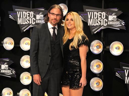 FILE - In this Aug. 28, 2011 file photo, Jason Trawick and Britney Spears arrive at the MTV Video Music Awards in Los Angeles. On Wednesday, April 25, 2012, LA Superior Court Judge Reva Goetz approved Spears' request that her fiance, Jason Trawick.