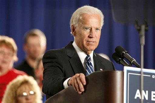 FILE - In this March 15, 2012, file photo, Vice President Joe Biden in Toledo, Ohio. (AP Photo/Madalyn Ruggiero, File)