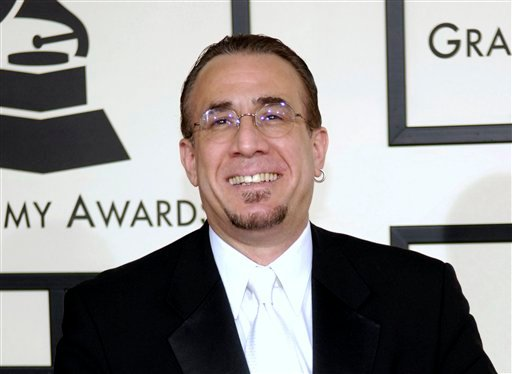 In this Feb. 10, 2008 file photo, jazz musician Bobby Sanabria arrives at the 50th Annual Grammy Awards in Los Angeles. (AP)