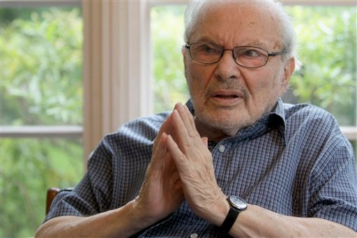 "FILE - In this Sept. 6 2011 file photo, children's book author Maurice Sendak is photographed doing an interview at his home in Ridgefield, Conn. Sendak, author of the popular children's book ""Where the Wild Things Are,"" died, Tuesday, May 8, 2012."