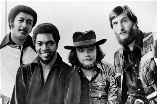 """From left to right: Al Jackson, Jr., Booker T. Jones, Donald """"Duck"""" Dunn, and Steve Cropper. (AP Photo, File)"""