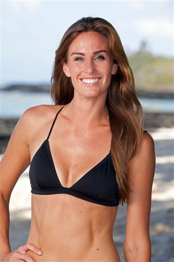 "This undated photo provided by CBS Entertainment shows ""Survivor: One World"" contestant Kim Spradlin."