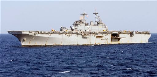 This undated image provided by the U.S. Navy shows the amphibious assault ship USS Essex underway in the Pacific Ocean.