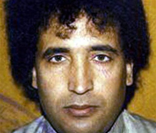 This undated file photo, issued by the British Crown Office, shows Abdel Baset al-Megrahi. A son says Al-Megrahi, the former Libyan intelligence officer who was the only person ever convicted in the 1988 bombing of a PanAm flight over Scotland (AP)