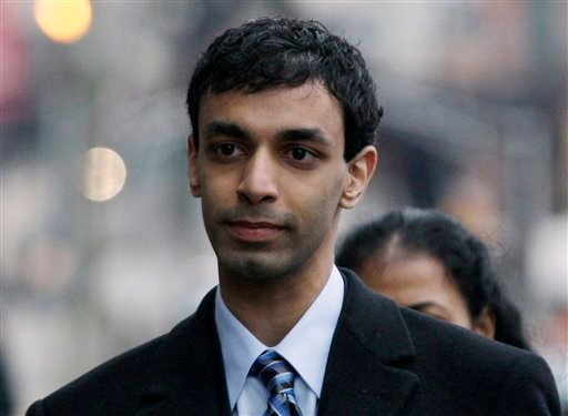 In a Feb. 24, 2012 file photo former Rutgers University student, Dharun Ravi, arrives at his trial in New Brunswick, N.J. Sentencing for 20-year-old Dharun Ravi is scheduled for Monday May 21, 2012. (AP Photo/Mel Evans/file)
