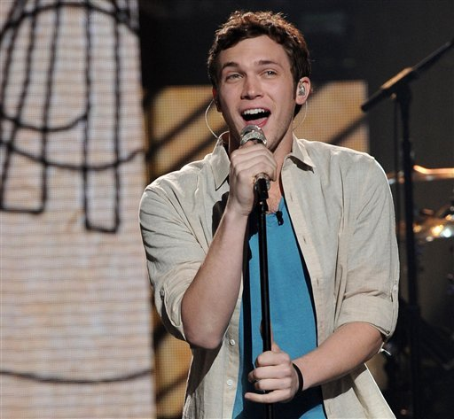 "FILE - In this April 25, 2012 file photo released by Fox, contestant Phillip Phillips performs on the singing competition series ""American Idol,"" in Los Angeles. The ""American Idol"" winner will be announced May 23, 2012. AP Photo/Fox, Michael Becker."