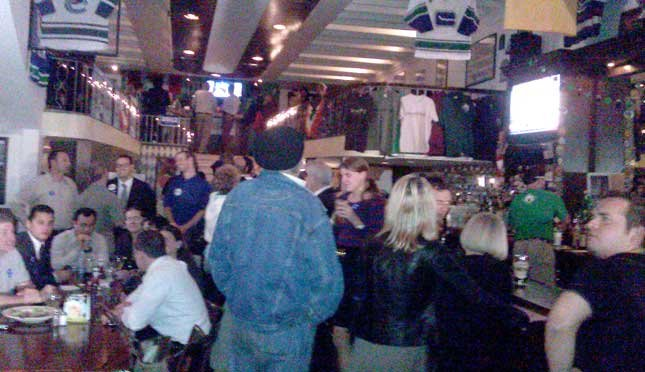 The Democratic Party at Stouts Pub. Photo Richard Allyn