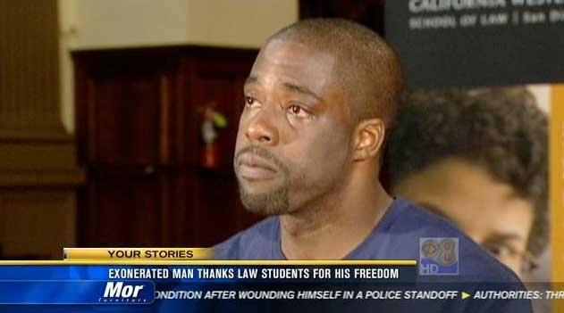 Brian Banks, 26, was cleared of a rape charge in a Long Beach courtroom after receiving legal assistance from the California Innocence Project.