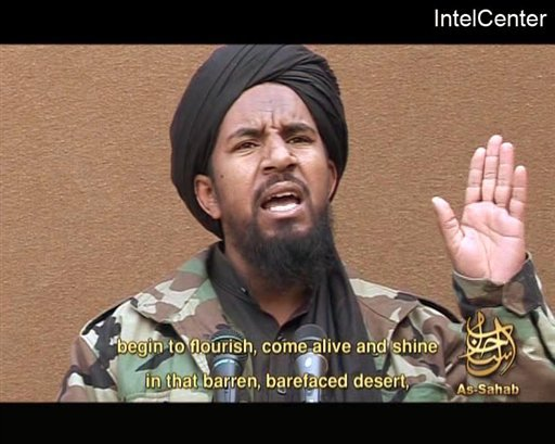 This March 25, 2007, file image, made from video posted on a website frequented by Islamist militants and provided via the IntelCenter, shows al-Qaida militant Abu Yahia al-Libi. (AP)
