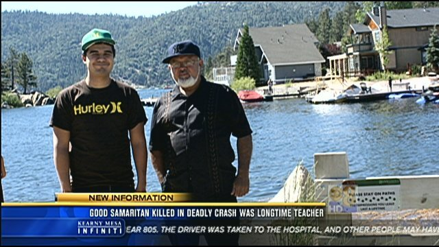 Jimmy Arevalo is seen in this video screen capture on the right. His son, Bernardo is on the left.