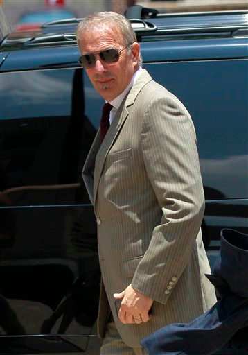 Kevin Costner arrives at Federal Court on Thursday, June 14, 2012 in New Orleans.