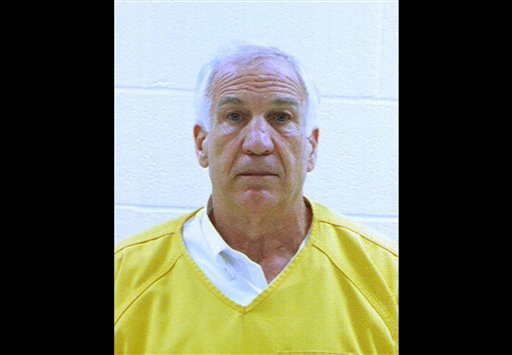 In this booking photo released early June 23, 2012 by the Centre County Correctional Facility in Bellefonte, Pa., former Penn State University assistant football coach Jerry Sandusky is shown. (AP Photo/Centre County Correctional Facility)