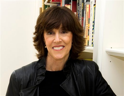 FILE - This Nov. 3, 2010 file photo shows author, screenwriter and director Nora Ephron at her home in New York. Publisher Alfred A. Knopf confirmed Tuesday, June 26, 2012, that author and filmmaker Nora Ephron died Tuesday of leukemia in New York.