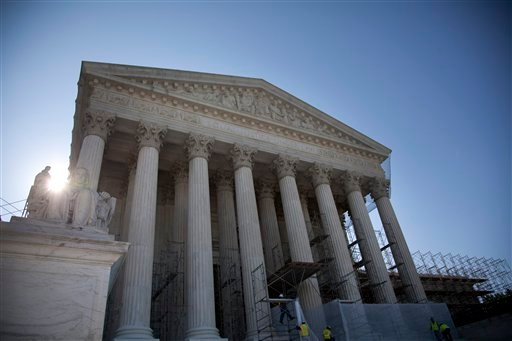 A view of the Supreme Court in Washington, Wednesday, June 27, 2012. (AP Photo/Evan Vucci)