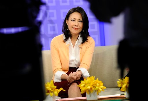 """FILE - This July 27, 2011 file photo released by NBC shows co-host Ann Curry on the """"Today"""" show in New York. (AP Photo/NBC, Peter Kramer)"""