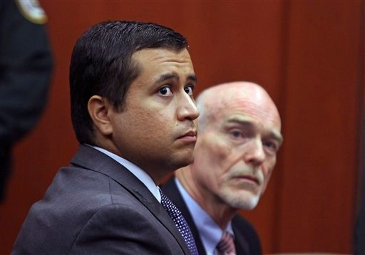 FILE -In this Friday, June 29, 2012 file photo, George Zimmerman, left, and attorney Don West appear before Circuit Judge Kenneth R. Lester, Jr. during a bond hearing at the Seminole County Criminal Justice Center in Sanford, Fla. (AP Photo)